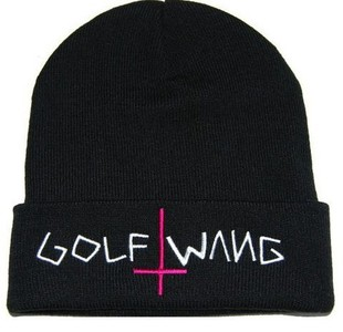 Spot European and American spoof hip-hop hat GOLF WANG knitted pullover cap men and women winter hat