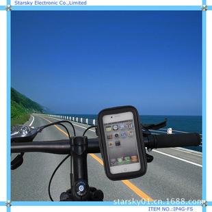 Suitable for Apple 4S 5 bicycle waterproof bag holder, waterproof leather case, universal motorcycle mobile phone holder