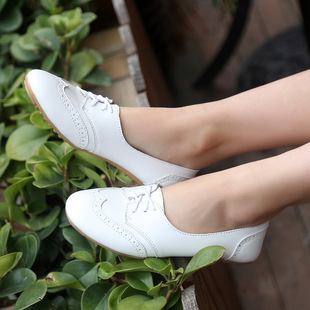 2021 spring tide shallow mouth British style single shoes flat heel casual shoes women's brogue women's shoes