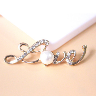 New love letter accessories mobile phone case stickers diamond beauty diy material pearl diy alloy jewelry accessories wholesale