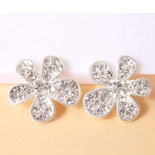 The new five-piece flower full diamond starfish flower mobile phone beauty DIY material package alloy accessories rhinestone starfish spot