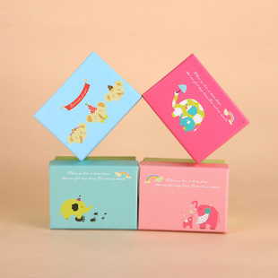 Holiday gift box square business blue gift box bow gift box gift box wholesale