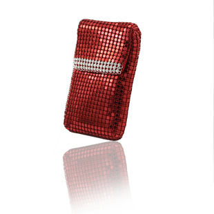 Gift area Small and exquisite diamond-studded aluminum mobile phone bag coin purse