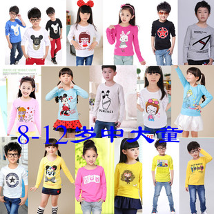 Foreign trade stalls children's clothing wholesale factory direct wholesale clearance processing Korean long-sleeved t-shirt stalls hot sale