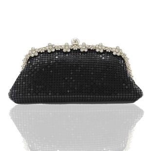 New European and American style exquisite diamond-studded aluminum bag banquet bag clutch bag dress bag