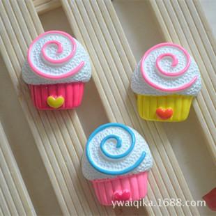 Japan and South Korea simulation cake resin love circle cake DIY handmade accessories children's hairpin hairpin material