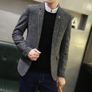 Spring men's casual solid color suits Korean version of self-cultivation youth small suits fashion one-piece jacket trend tops