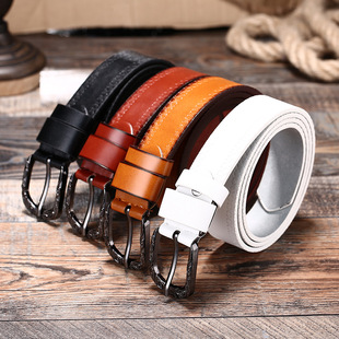 2021 new ladies belt fashion casual frosted belt automatic buckle belt factory direct wholesale