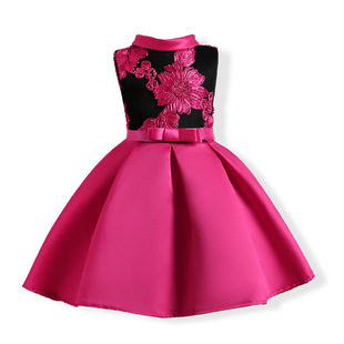 Amazon ebay European and American girls' dresses, embroidered middle-aged children's dresses, children's clothing wholesale