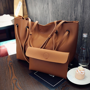 2017 handbags fashion shoulder tote bag Messenger bag retro two-piece laptop bag large influx of foreign trade picture