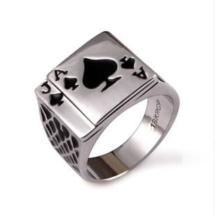 European and American personality ace of spades poker ring