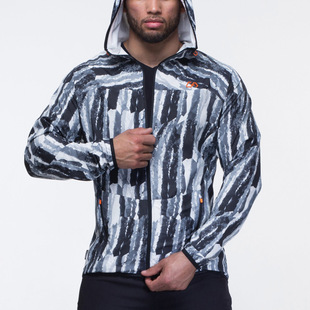 Muscle Boy Fitness Brothers Thin Sports Casual Cardigan Jacket Men's Fitness Training Slim Hooded Sweater