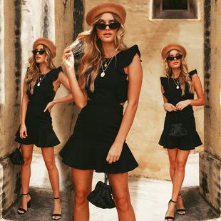 Spot! WISH Amazon EBAY European and American fast fashion women's new skirt holiday leisure 18218