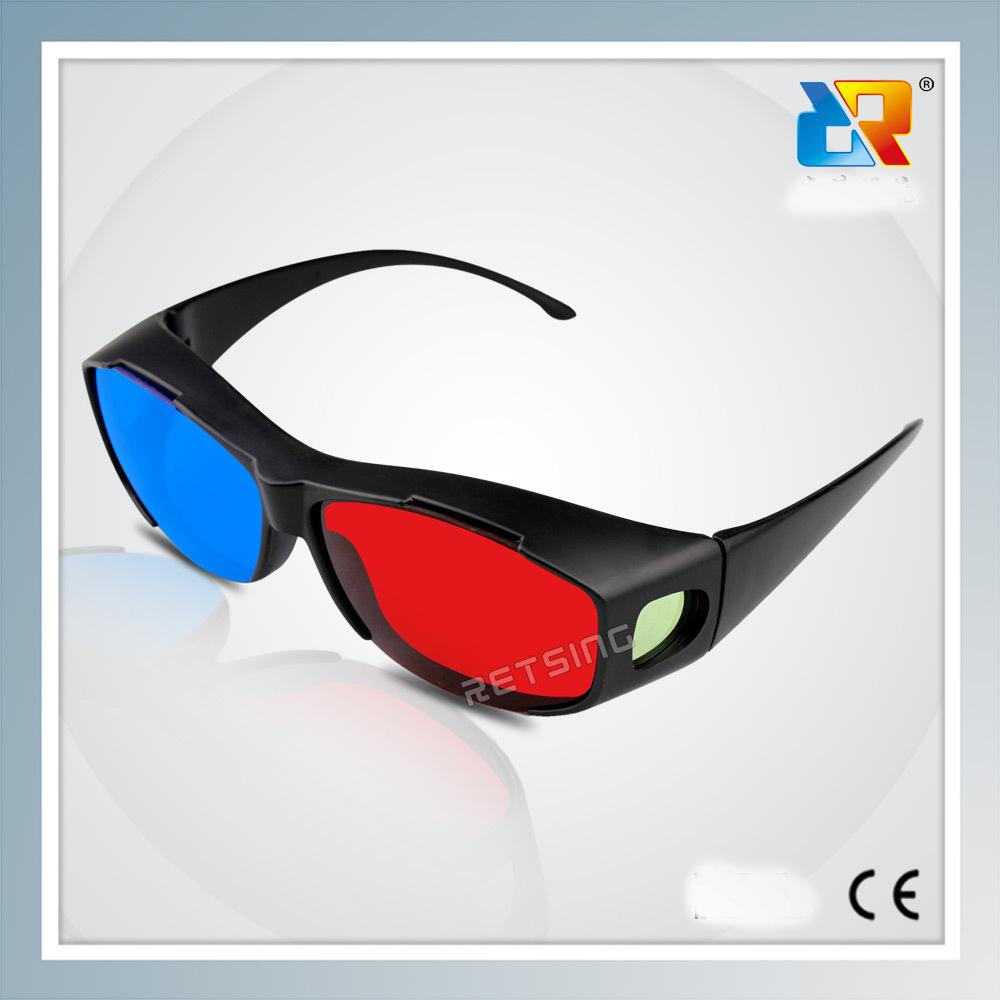 厂家供应 红蓝3D眼镜  电脑手机电影电视通用红蓝眼镜