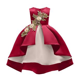 New European and American children's clothing foreign trade girls' vest skirt princess dress ins dress children's skirt performance clothing embroidered dress