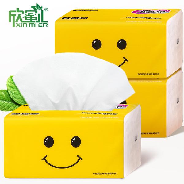 Xinmier 3 слоя 300 листов войти насосные здравоохранения Бумага домой Салфетка салфетка семья полная загрузка контейнера (fcl) бумажные полотенца оптовая торговля