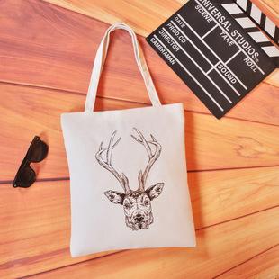 Supply fashion portable printing canvas bag printing canvas bag factory wholesale multi-color heat transfer canvas bag