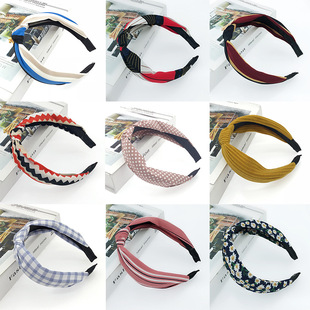 Factory Outlet-New Fabric Bowknot Headband Women's Popular Hair Accessories Headwear-Yiwu Wholesale Mixed Batch Jewelry