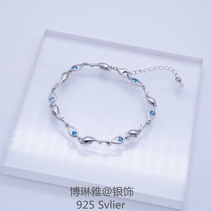 S925 Sterling Silver Bracelet Dolphin Bracelet Simple Swim to Chic Gift Factory Outlet