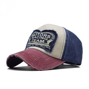 AliExpress eBay Explosive Foreign One Drop Denim Washed Baseball Cap MOTO Hip Hop Hat Casual Hat