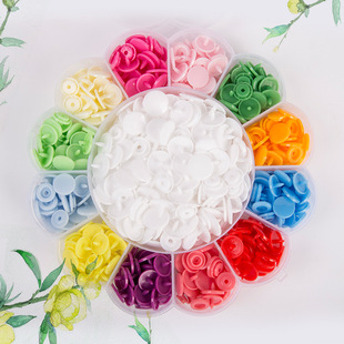 Flower T5 Set Box Resin Snap Button Installation Tool Colored Plastic Children's Clothing Button Saliva Towel Climbing Clothes Snap Button