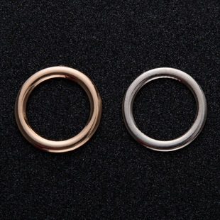 New style ring buckle, metal round button, luggage, women's coat, clothes decorative buckle, hardware accessories circle