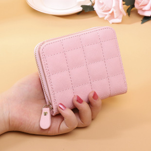 Korean style short wallet female new zipper wallet student embroidered female wallet cute lady coin purse card holder