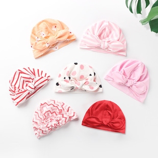 Baby hat baby bunny ears knotted hedging Indian hat children hat 0-12 months