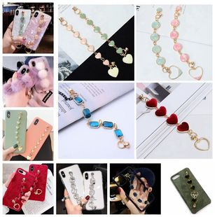 Creative gemstone bracelet plush love pendant diy mobile phone case jewelry stickers diamond material accessories collection wholesale