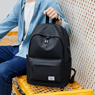 【Zipper bag】Oxford Waterproof Breathable Wearable Large Double Shoulder Back Solid Color Zipper Outdoor Leisure Backpack