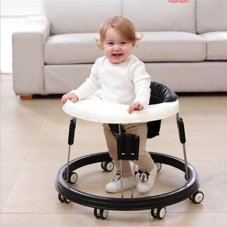 婴儿学步车 防o型腿男女孩6-18个月防侧翻男宝宝学步车多功能可坐