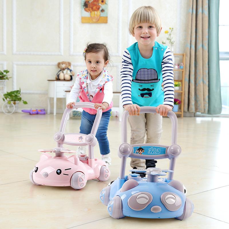 源头厂货带音乐宝宝学步车多功能可调速婴儿助步车防侧翻手推车