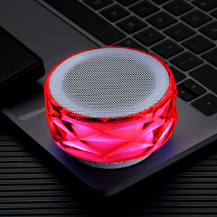 Factory direct sales bluetooth speaker crystal colorful lights card U disk hands-free call radio bluetooth audio gift