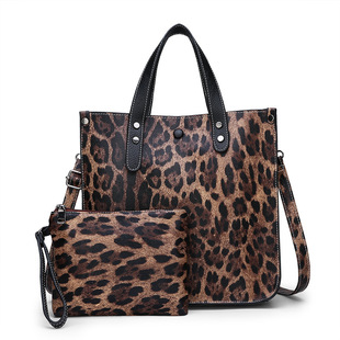 Bag women 2020 winter new European and American fashion leopard print picture mother bag two-piece single-shoulder diagonal female bag