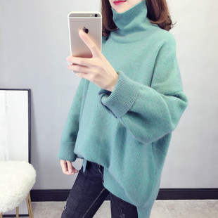 2020 winter new loose pullover turtleneck sweater women ins super fire Korean version of the autumn and winter long-sleeved thick sweater