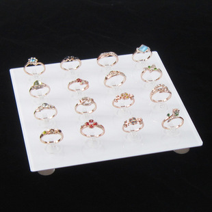 Jewelry display stand, ring stand, white acrylic display stand, jewelry display props, ring seat display props