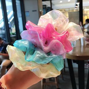 Fairy in the world ~ ins Korean super fairy maiden jime gauze large intestine circle French organza sweet girl hair circle