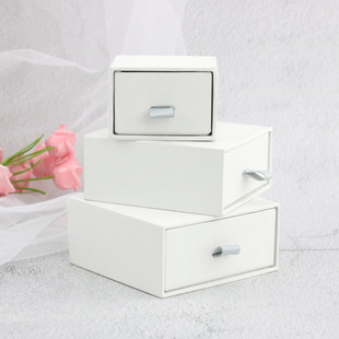 Wholesale jewelry paper box, ring, earrings, necklace, drawer type jewelry storage box, pull-out gift box, custom logo