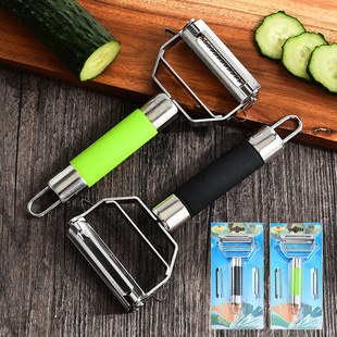 Factory wholesale stainless steel double-sided grater, peeler, two-in-one melon planer, melon and fruit peeling knife