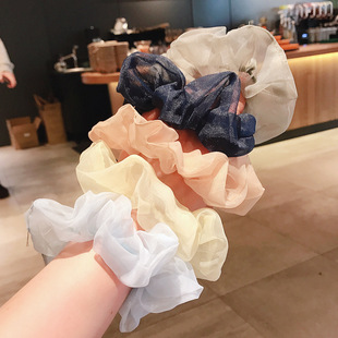 Ins large intestine hair ring wind sweet and simple organza hair rope Sen tie lavender purple head rope rubber band ponytail hair ring