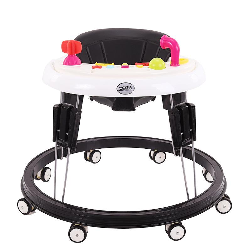 出口品质婴儿学步车多功能可折叠防侧翻厂家直销免安装宝宝学步车