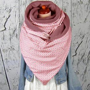 A large number of spot eBay Amazon printed triangle scarf casual thickening warm shawl scarf