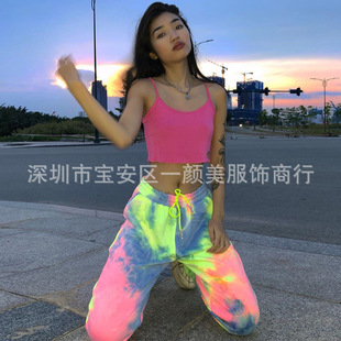 European and American cross-border women's 2020 spring and summer AliExpress new tie-dye fashion casual pants sweatpants