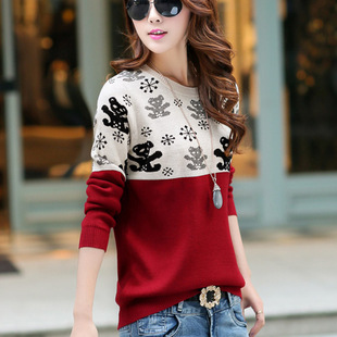 Explosive spot 2020 new Korean style small fragrance sweater round neck pullover long-sleeved bear sweater for fall/winter 2020