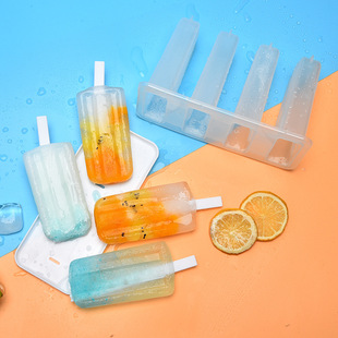 Plastic 4 Ice Cream Mould Ice Cream Ice Cream Mould Old Popsicle Mould Ice Box Summer DIY Home