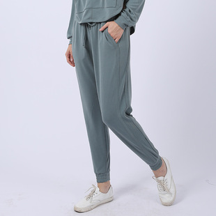 New sports pants women's loose and breathable foot yoga pants all-match sports suit pants running harem pants