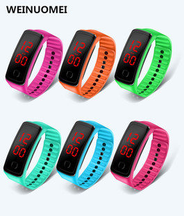Factory direct sale Korean version of the second-generation LED bracelet electronic watch children male and female students sports silicone electronic watch