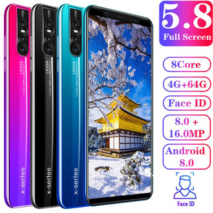 Explosive 5.8-inch smartphone X27plus cross-border mobile phone 512+4g foreign trade wholesale wish default 4+64G