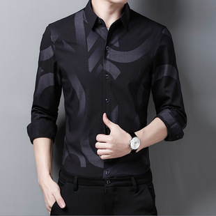 Yaxite autumn new products 2021 men's business casual shirts, comfortable and simple dad outfit men's shirts wholesale