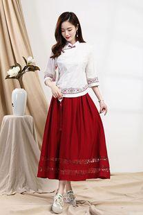 Hanfu girl Tang suit summer new style cotton and linen women's linen short-sleeved top, ladies slim short top